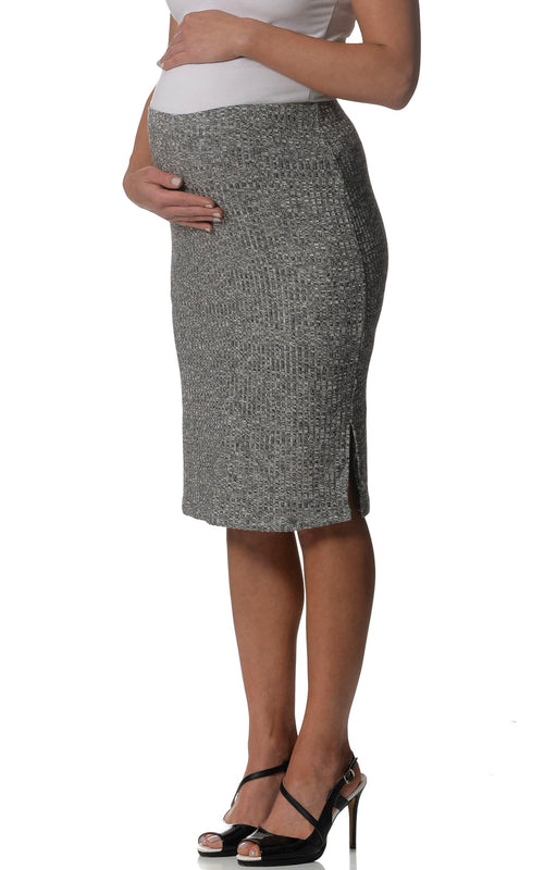 maternity skirt knitted grey