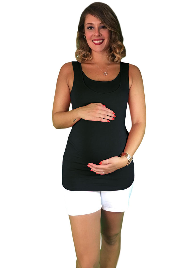 Maternity & Nursing Tank - Cotton - Black -
