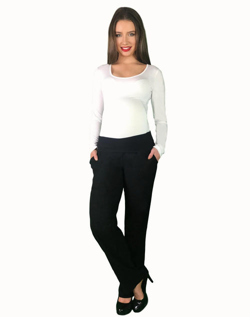 Lilly & Me Maternity Office Pants - Black