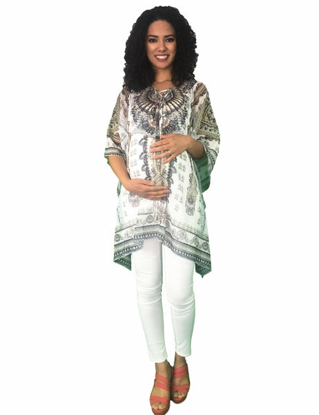 beaded maternity kaftan