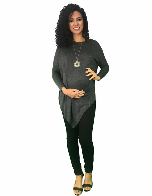 maternity jumper - dark grey