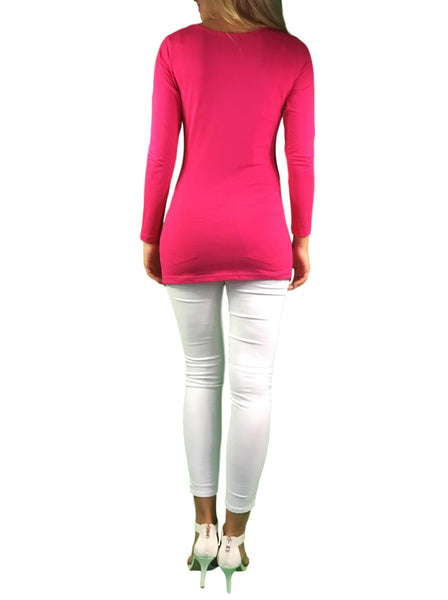 maternity & nursing long sleeve top - pink