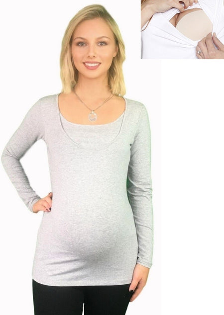 Lilly & Me Cotton Maternity & Nursing Day To Night Dress - Block Colours