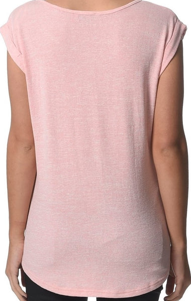 Lilly Maternity Tee - Pink & Grey