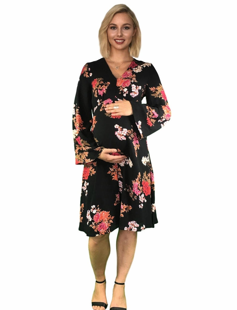 Maternity Dress -Floral Print -