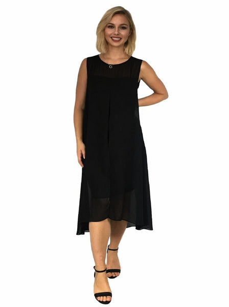 maternity evening dress - black