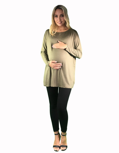 maternity top khaki