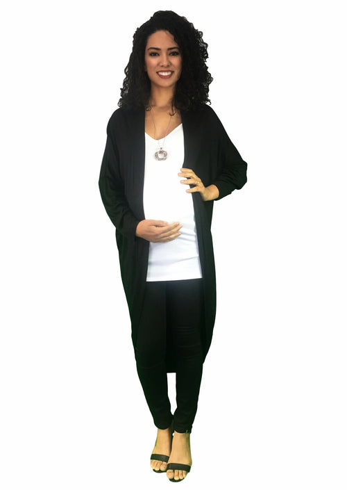 maternity cardigan - black