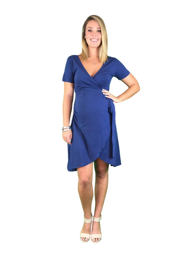 Cotton Maternity & Nursing Wrap Dress