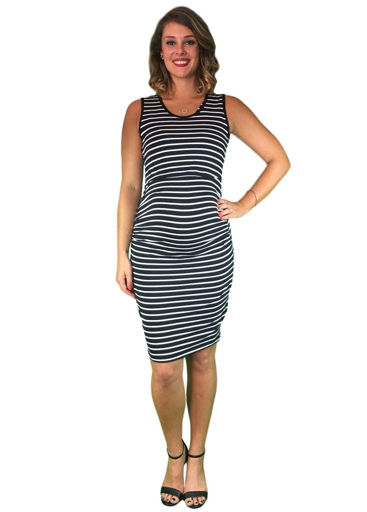 Lilly & Me Cotton Day To Night Dress - Striped -