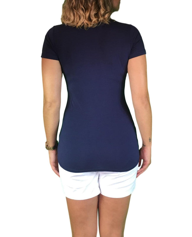 Lilly & Me Cotton Lift Up Maternity & Nursing Top - Navy Blue