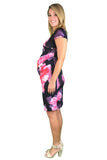 Teaberry Cap Sleeve Maternity & Nursing Dress - Teaberry Cap Sleeve Maternity & Nursing Dress
