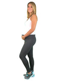 Cotton Fold Down Maternity Leggings - Dark Grey