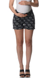 Lilly & Me Maternity Shorts - Navy Blue Print - Lilly & Me Maternity Shorts - Navy Blue Print