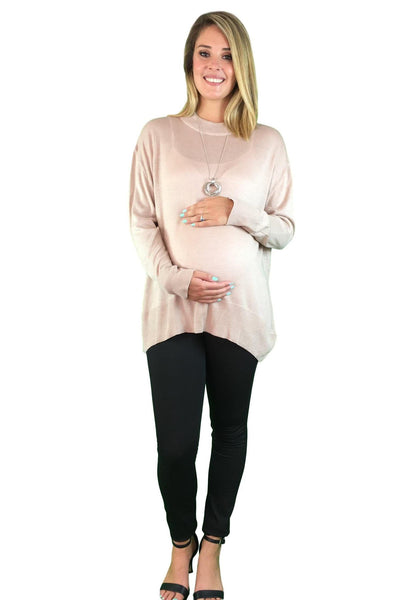 Lilly Maternity Jumper - Beige