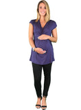 Gathered Maternity Day To Night Top - Gathered Maternity Day To Night Top