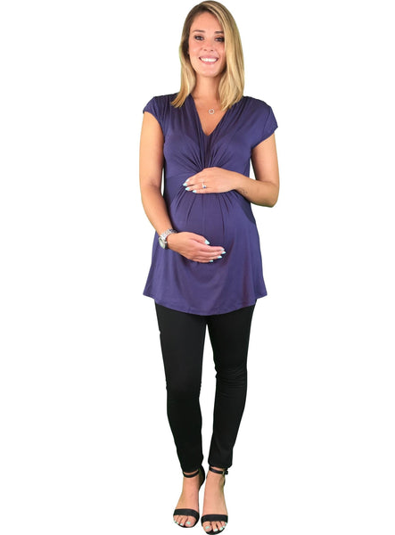 Gathered Maternity Day To Night Top