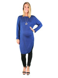 Extra Long Maternity Jumper - Blue - Extra Long Maternity Jumper - Blue