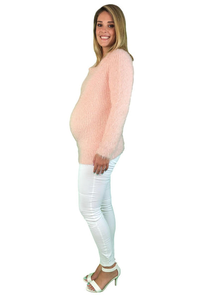 Dressy Maternity Jumper - Pale Pink