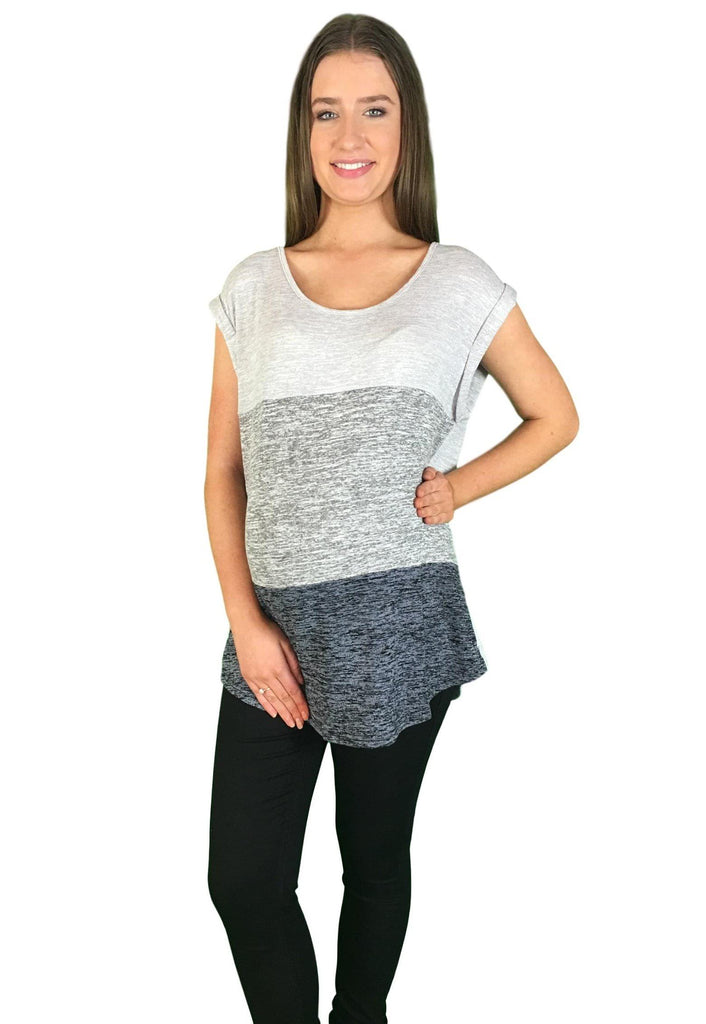 Lilly Maternity Tee - Grey -