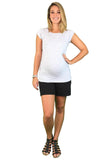 Lilly & Me Cotton Maternity & Nursing Tee - Grey - Lilly & Me Cotton Maternity & Nursing Tee - Grey