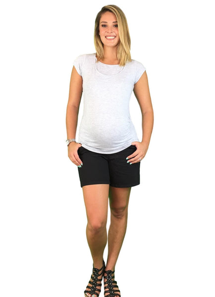 Lilly & Me Cotton Maternity & Nursing Tee - Grey