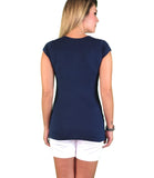 Lilly & Me Cotton Maternity & Nursing Tee - Navy Blue - Lilly & Me Cotton Maternity & Nursing Tee - Navy Blue