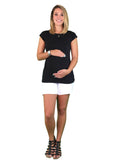 2 x Pack Of Lilly & Me Maternity & Nursing Tee's - Black & White - Maternity & Nursing Tee's - Black & White