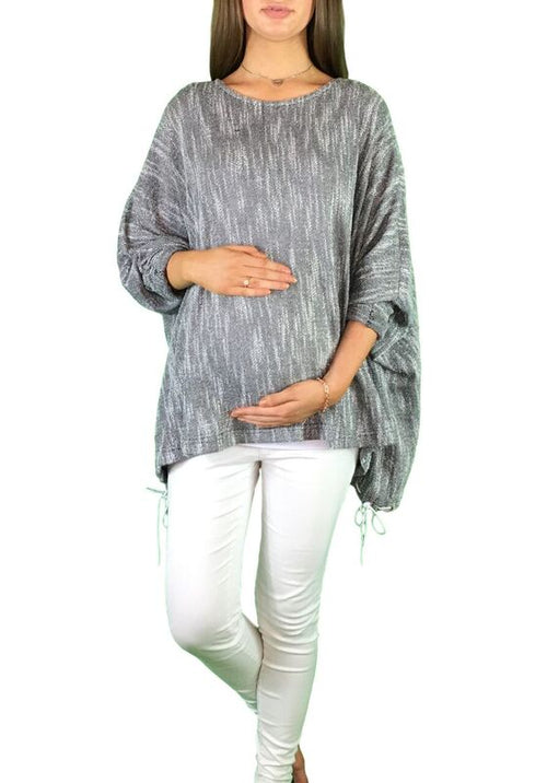 Maternity Slouch Jumper - Dark Grey