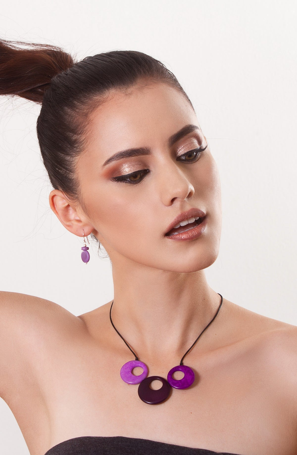 Alicia earrings - Purple