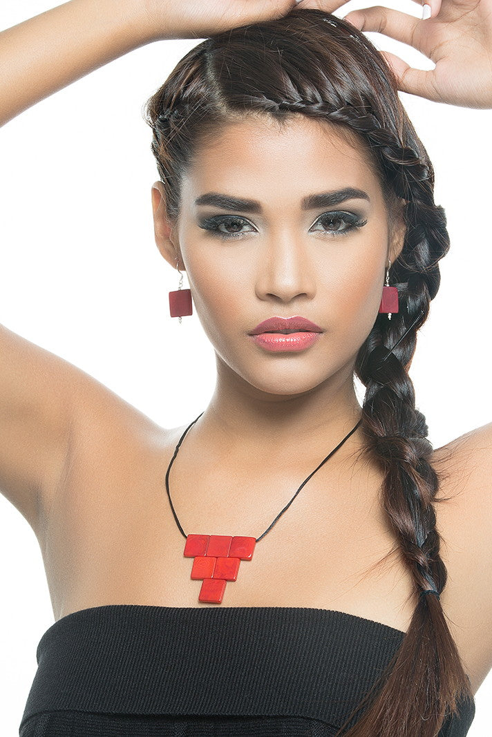 Cairo necklace - Red