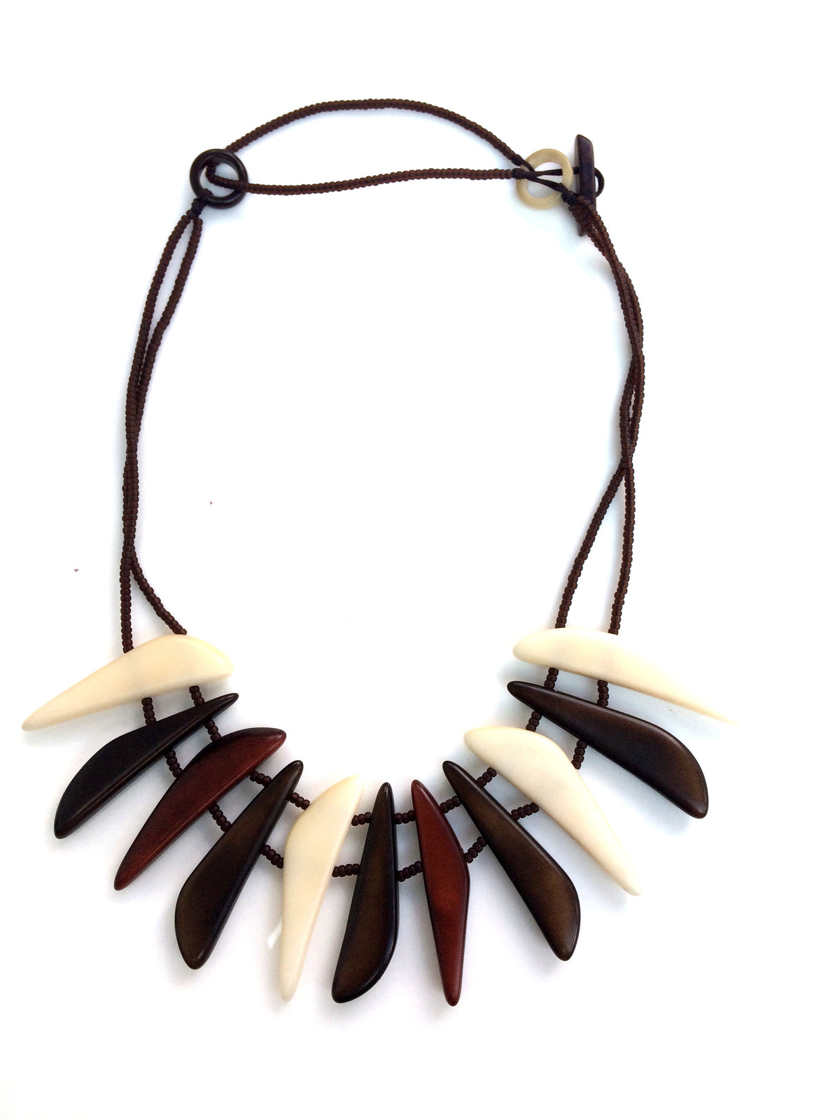 Cielo necklace - Brown & Ivory Tones