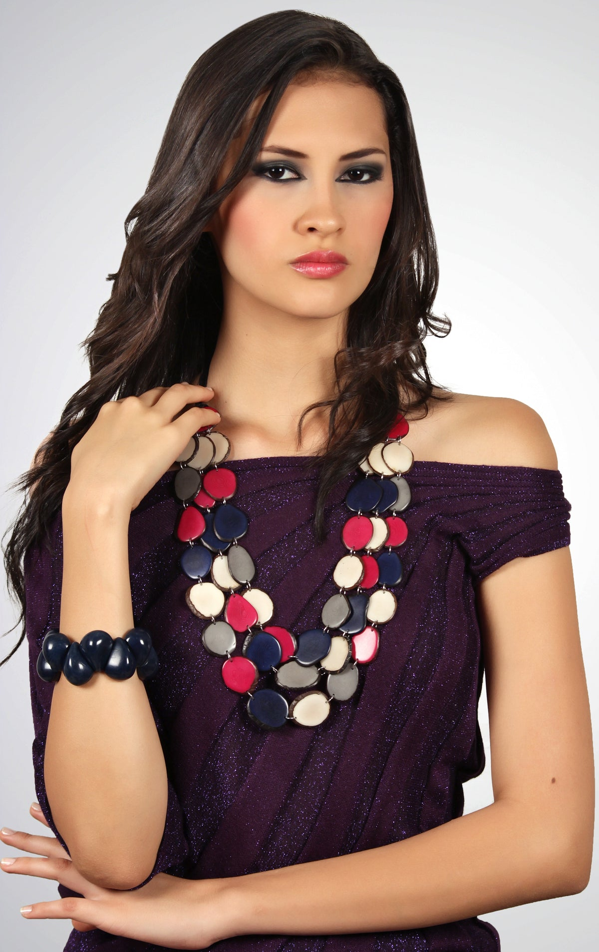Cleopatra Necklace - Red