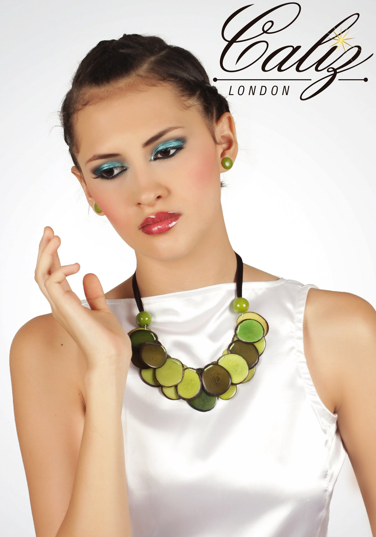 Pescador Necklace - Green tones