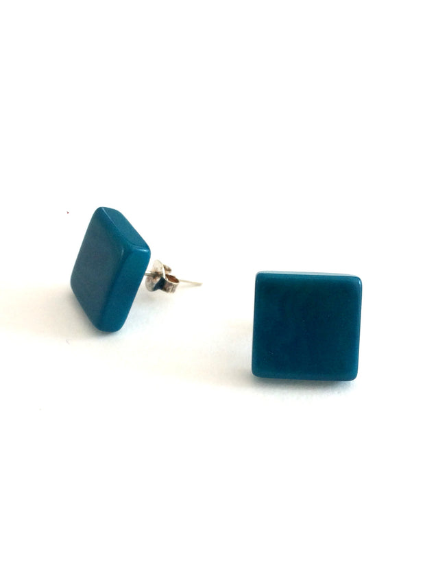 Cuadrito stud earrings - Turquoise