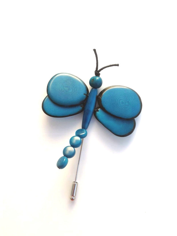 Dragonfly Brooch - Turquoise
