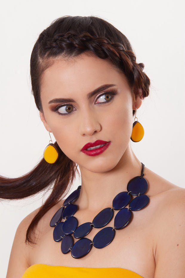Escama Earrings - Mustard