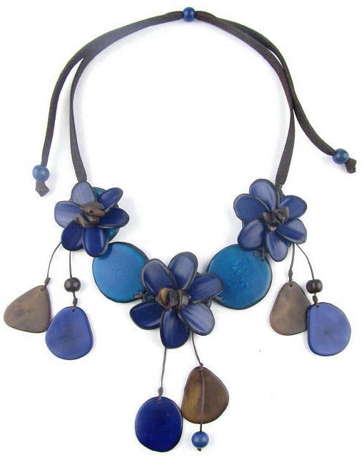 Flora necklace - Navy
