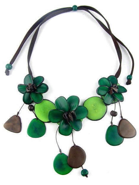 Flora necklace - Green