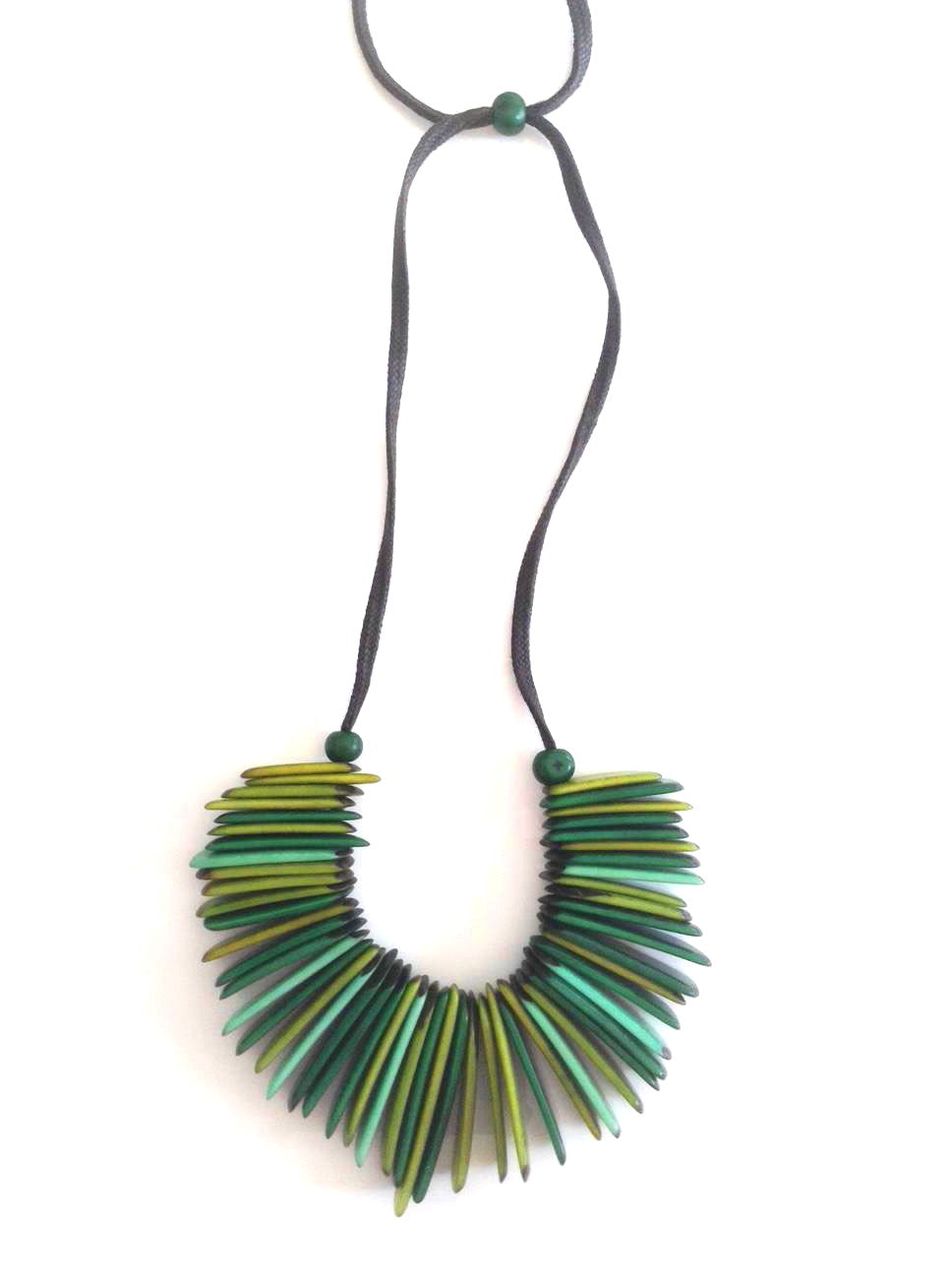 India Necklace - Green Tones