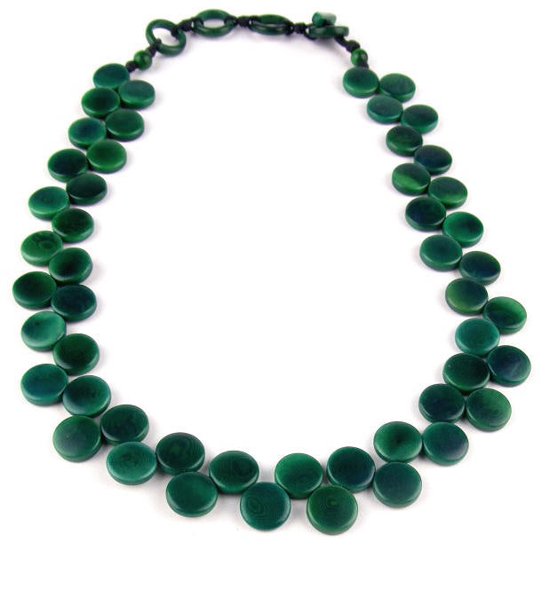 Kate Necklace - Green Hunter