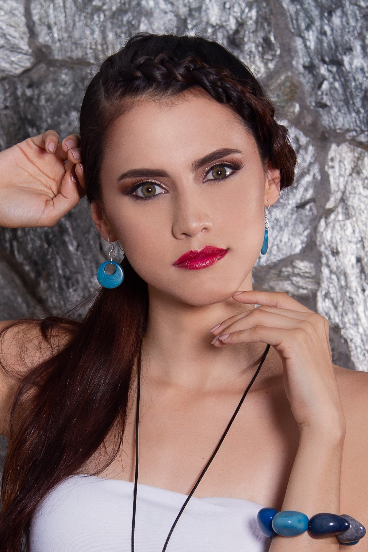 Luna earrings - Blue Sky