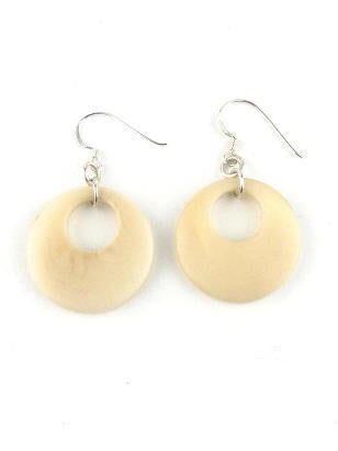Luna earrings - ivory