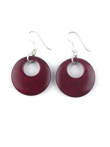 Luna earrings - Red