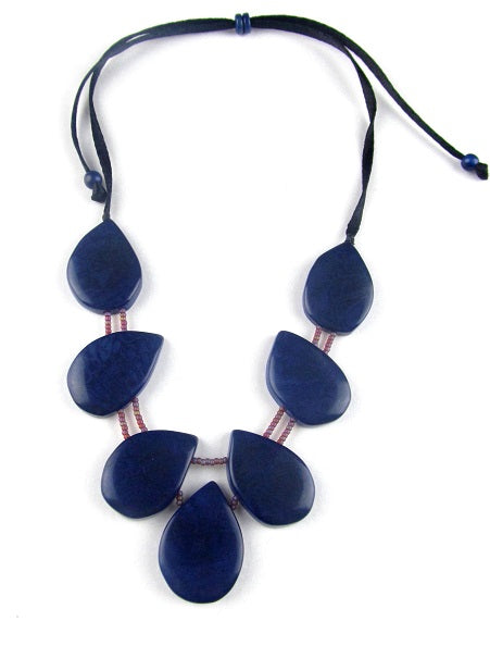 Trebol Necklace - Navy