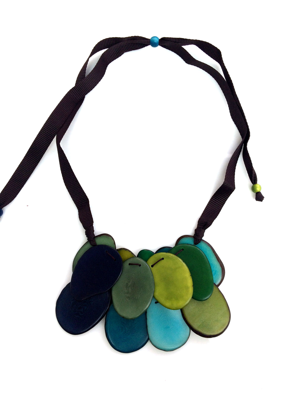 Salma Necklace - Green/Blue Tones