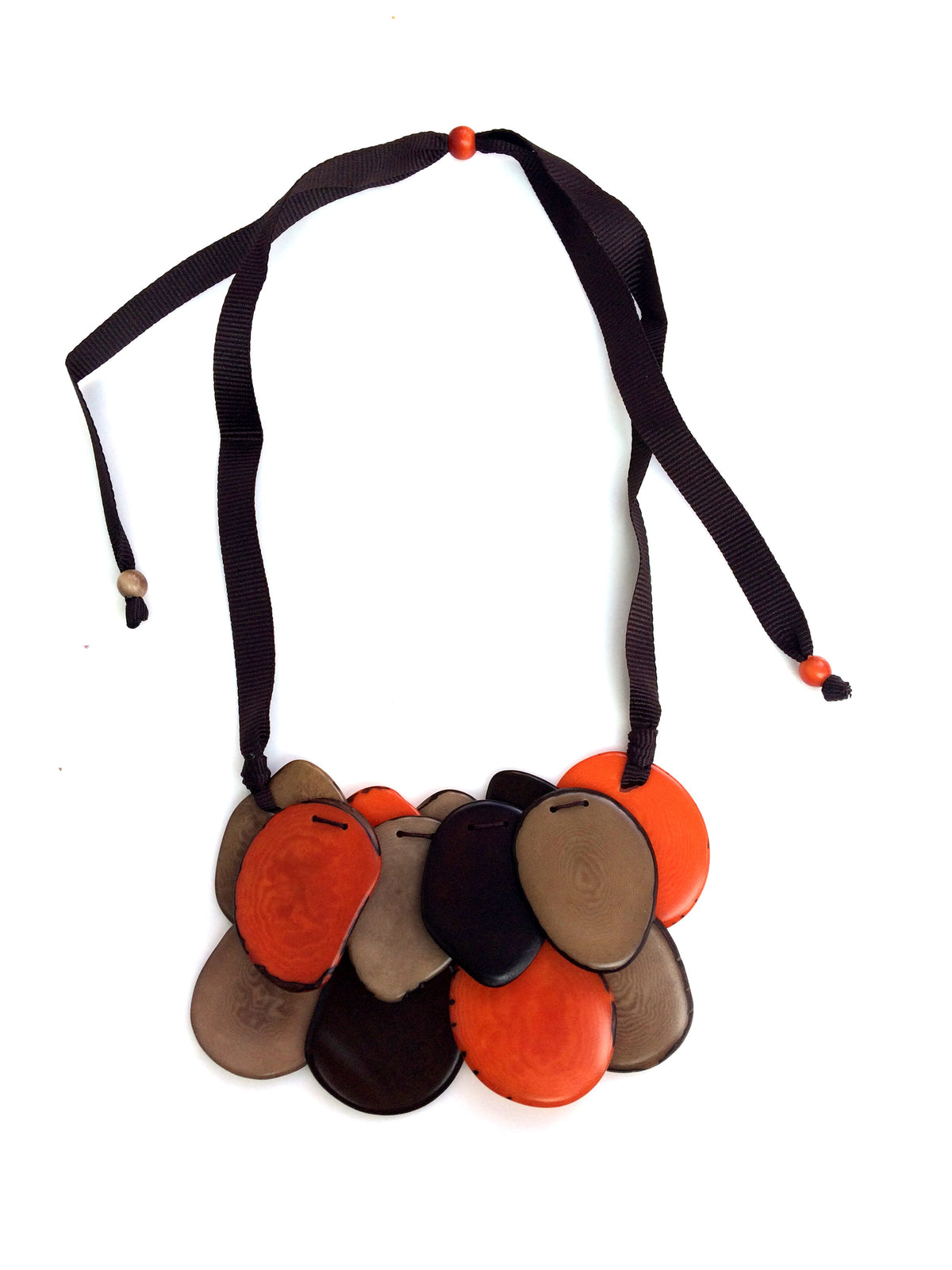 Salma Necklace - Orange/Brown Tones