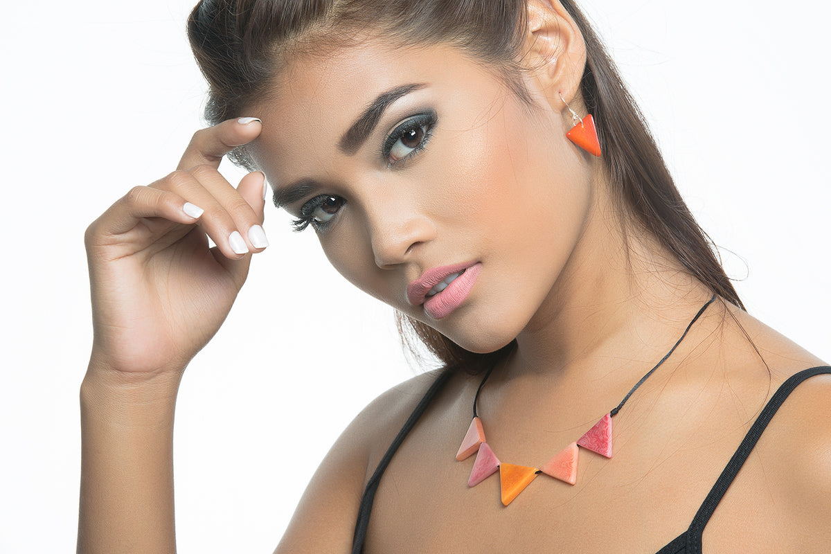 Sol necklace - Orange & Pink Tones