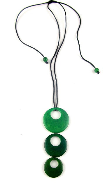 Triluna pendant necklace - Green Tones