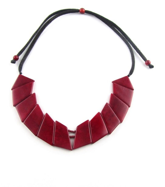 Valentina Necklace - Red
